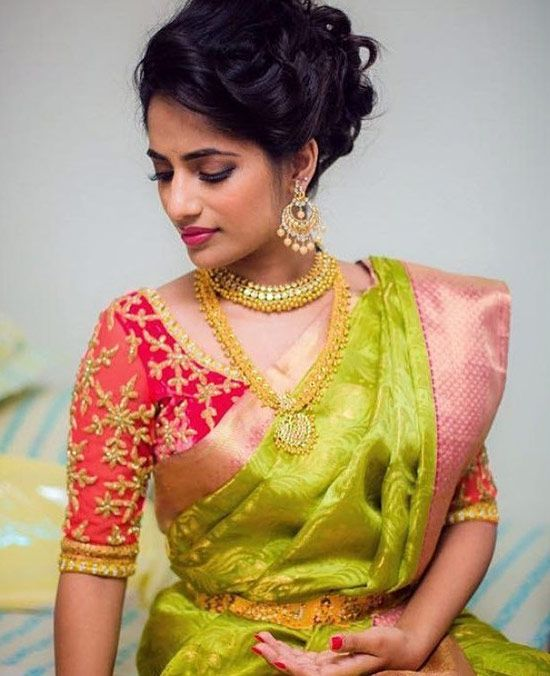 50 Latest Silk Saree Blouse Designs Catalogue 2019 In 2019