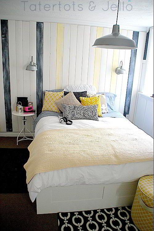 Photo of Nautical Navy und White Teen Bedroom und $ 100 Lowes Geschenkkarte Werbegeschenk!