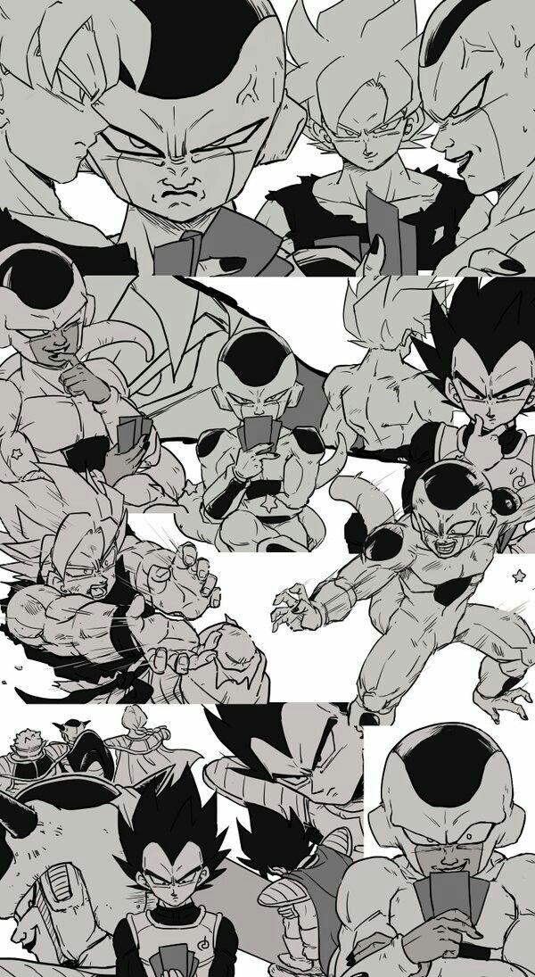 Goku, Vegeta, and Frieza