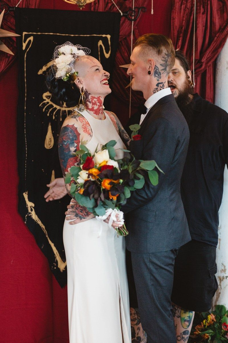 This Creative Edgy Wedding Combined Ultra Glam With Street Art
