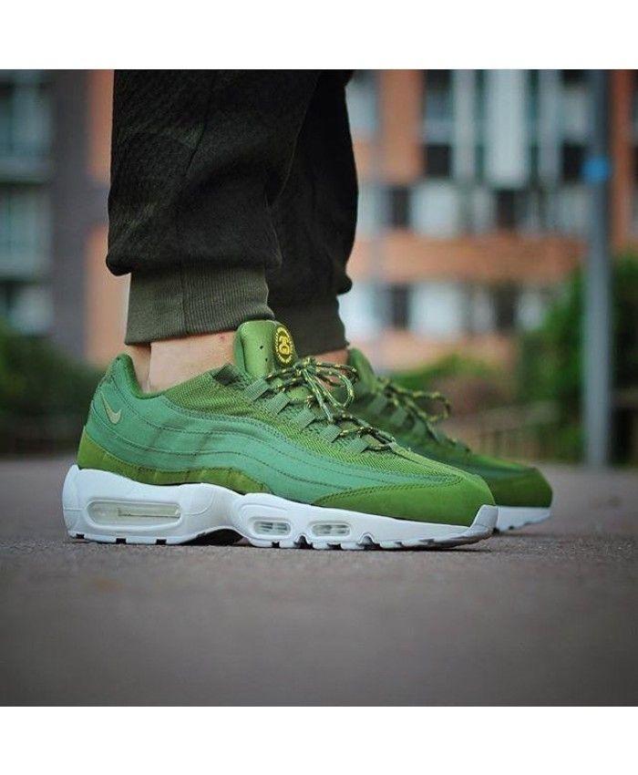 8e3765310e Air Max 95 Army Green White Shoes | Sneakers : Nike Air Max95 | Nike ...