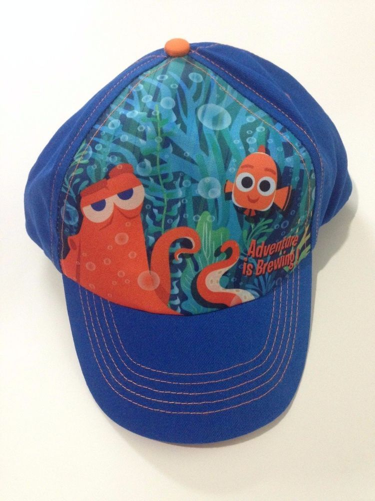 9c8fe7e20d7 NWT Disney Pixar Finding Dory Hank Nemo Adventure is Brewing Childs Snapback  Cap…