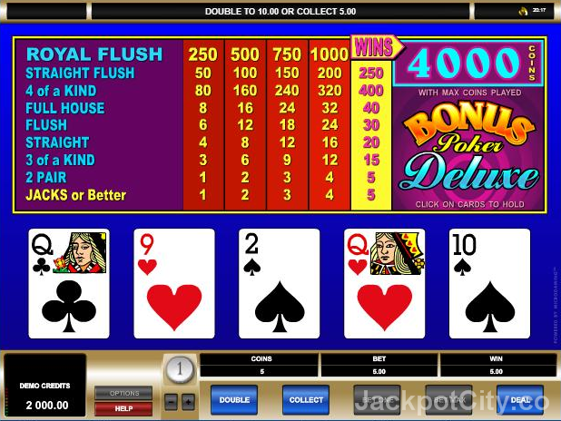 Free games to play as much as you want: 103 Video Poker >> jackpotcity.co/free-video-poker.aspx