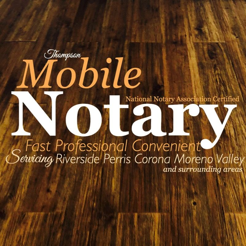 Thompson Mobile Notary Services, 5 off mobile notary