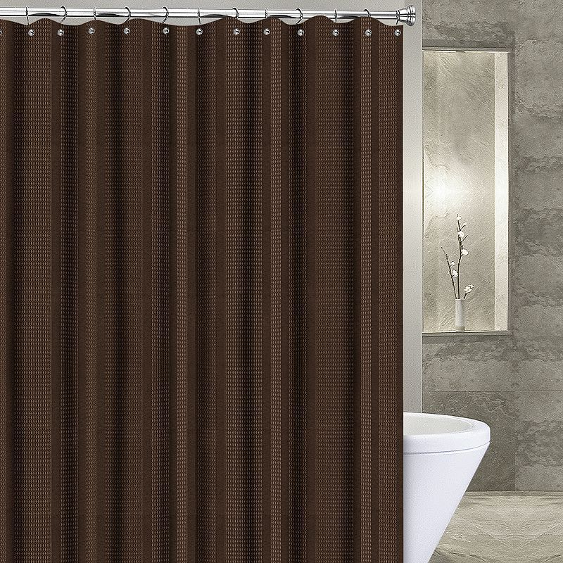 Popular Bath Waffle Stripe Fabric Shower Curtain Fabric Shower