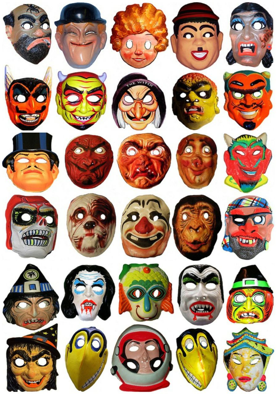 "Vintage Halloween Masks. "" | UUUUUUHHHHHHH | Pinterest | Halloween ..."