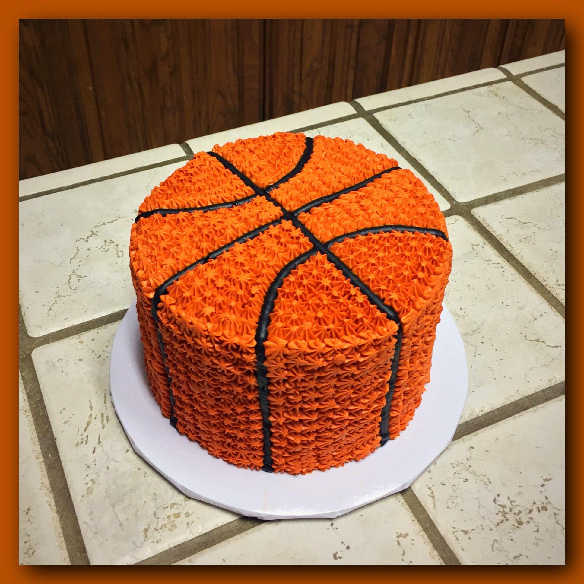 Basketball Layer Cake Basketball Birthday Cake Basketball Cake Birthday Party Drinks