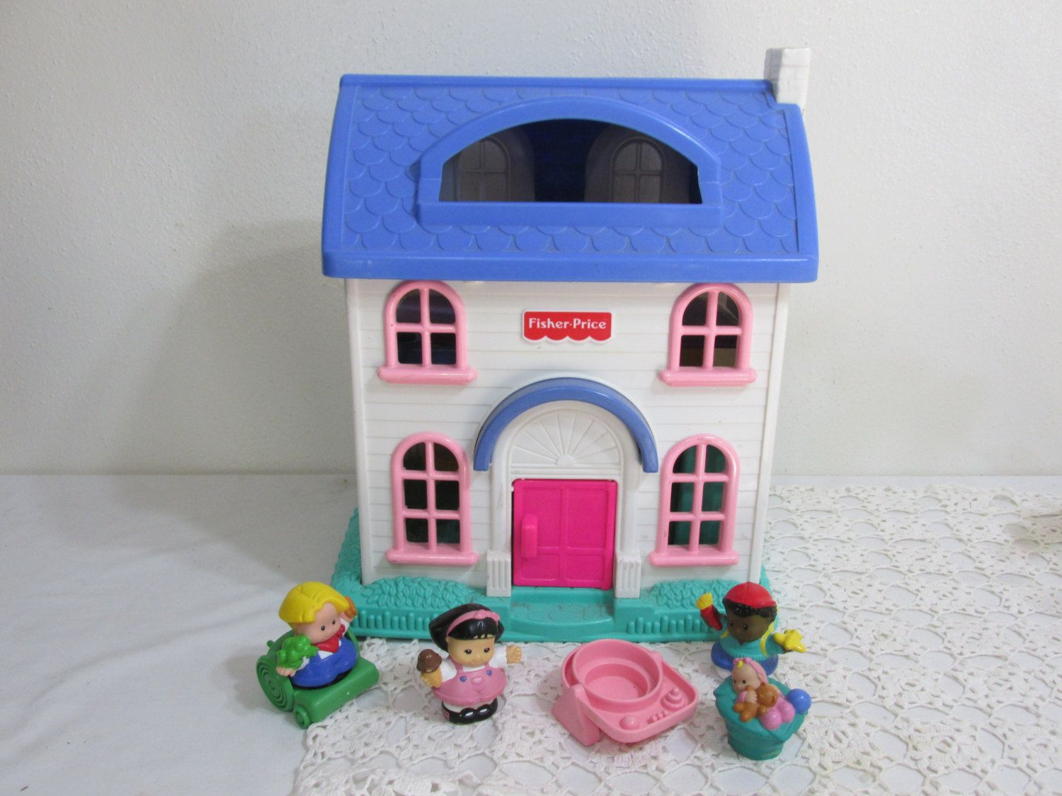 Fisher Price Little People Doll House Home Sweet Home 1996 With Some