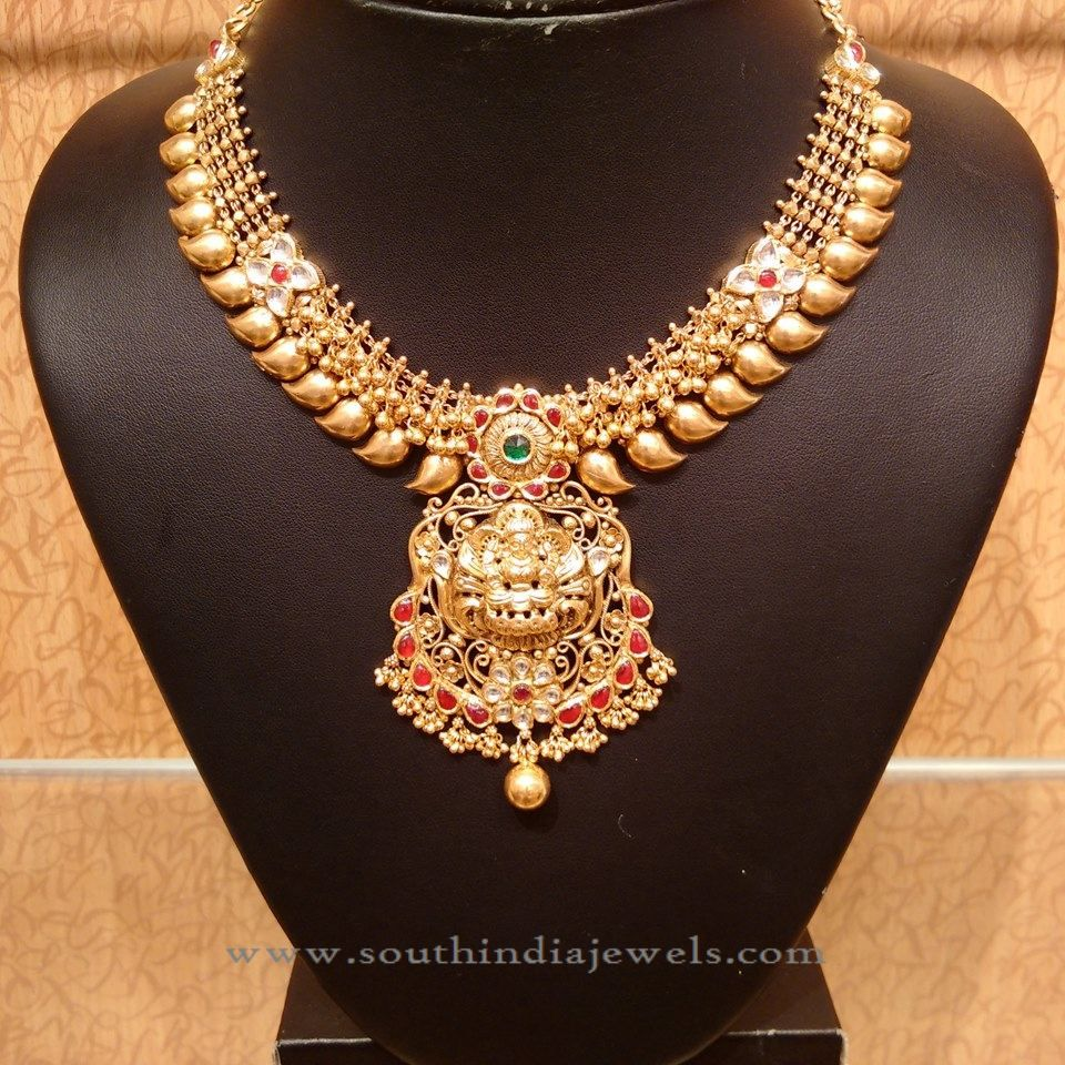 49266eb9774 Light Weight Temple Mango Necklace from NAJ | Necklace Collections ...