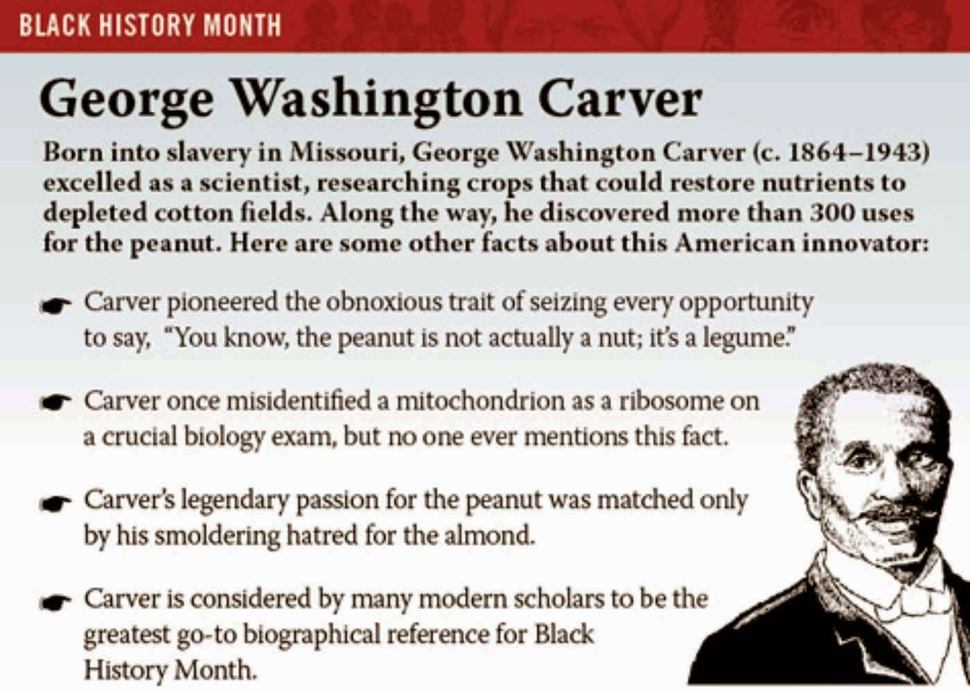 a biography of george washington carver born a slave in diamond grove missouri George washington carver was born into slavery in diamond, missouri, around 1864 the exact year and date of his birth are unknown carver went on to become one of the most prominent scientists.