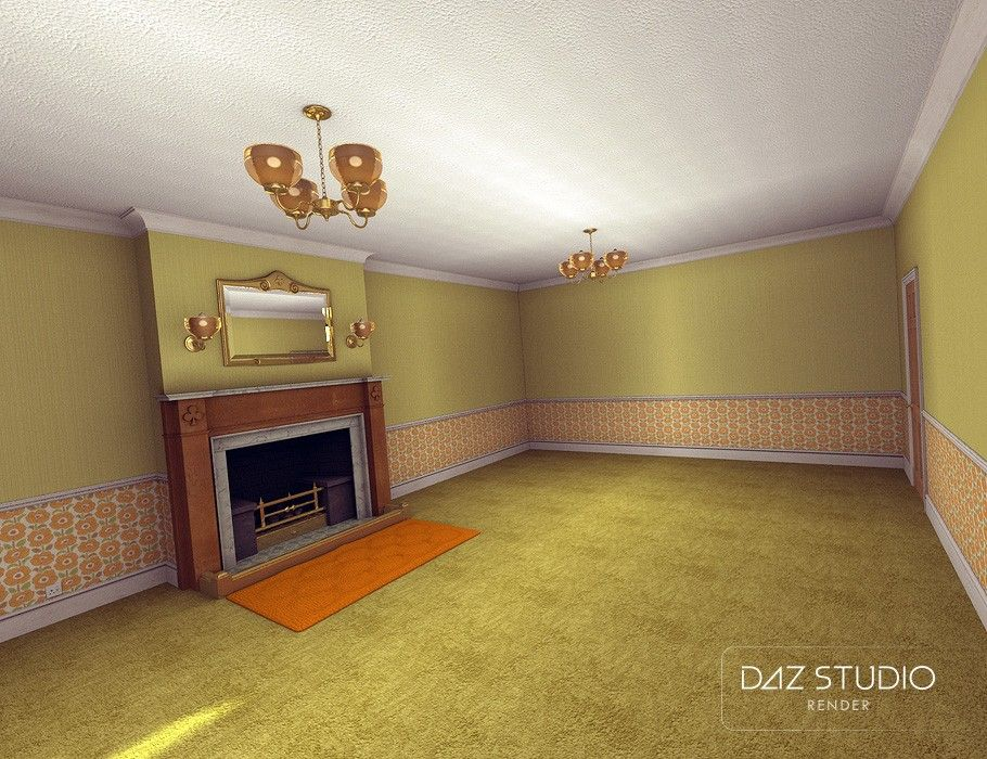 A Cozy Kitsch Living Room   3D Models and 3D Software by ...
