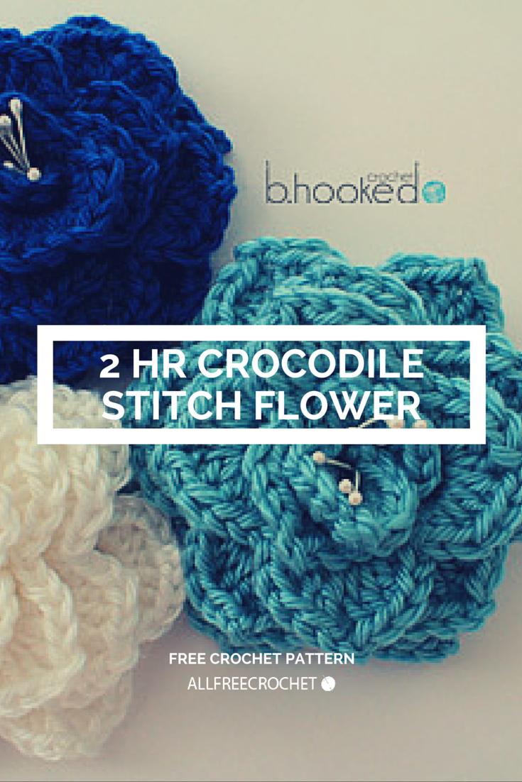 Two-Hour Crocodile Stitch Flower | Puntadas, Apliques y Estrella