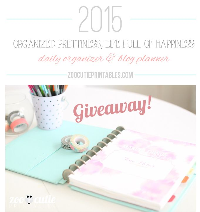 2015 Organized Prettiness, Life Full Of Happiness Planner