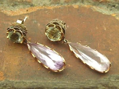 Tacori Multi Gemstone Inlay 925 18k Gold Post Dangle Earrings (7.3g) - http://elegant.designerjewelrygalleria.com/tacori/tacori-multi-gemstone-inlay-925-18k-gold-post-dangle-earrings-7-3g/