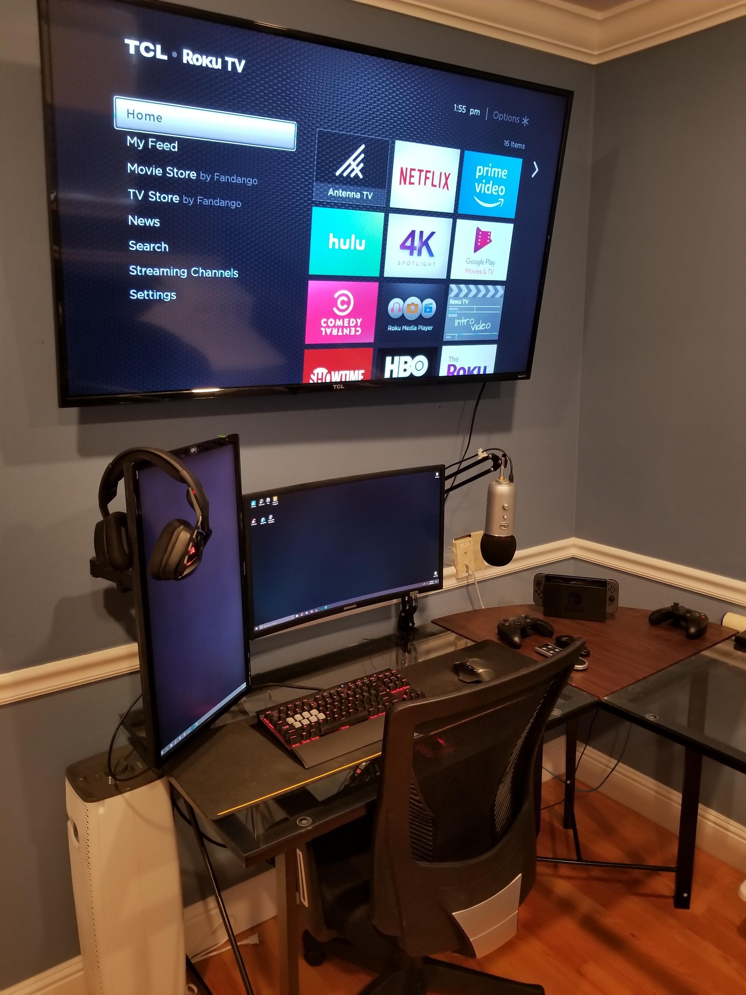 My Setup Gaming Room Setup Home Office Setup Small Game Rooms