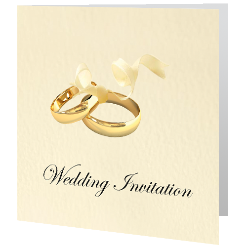 Wedding Day Invite Gold Wedding Rings Wedding Invitations Gold