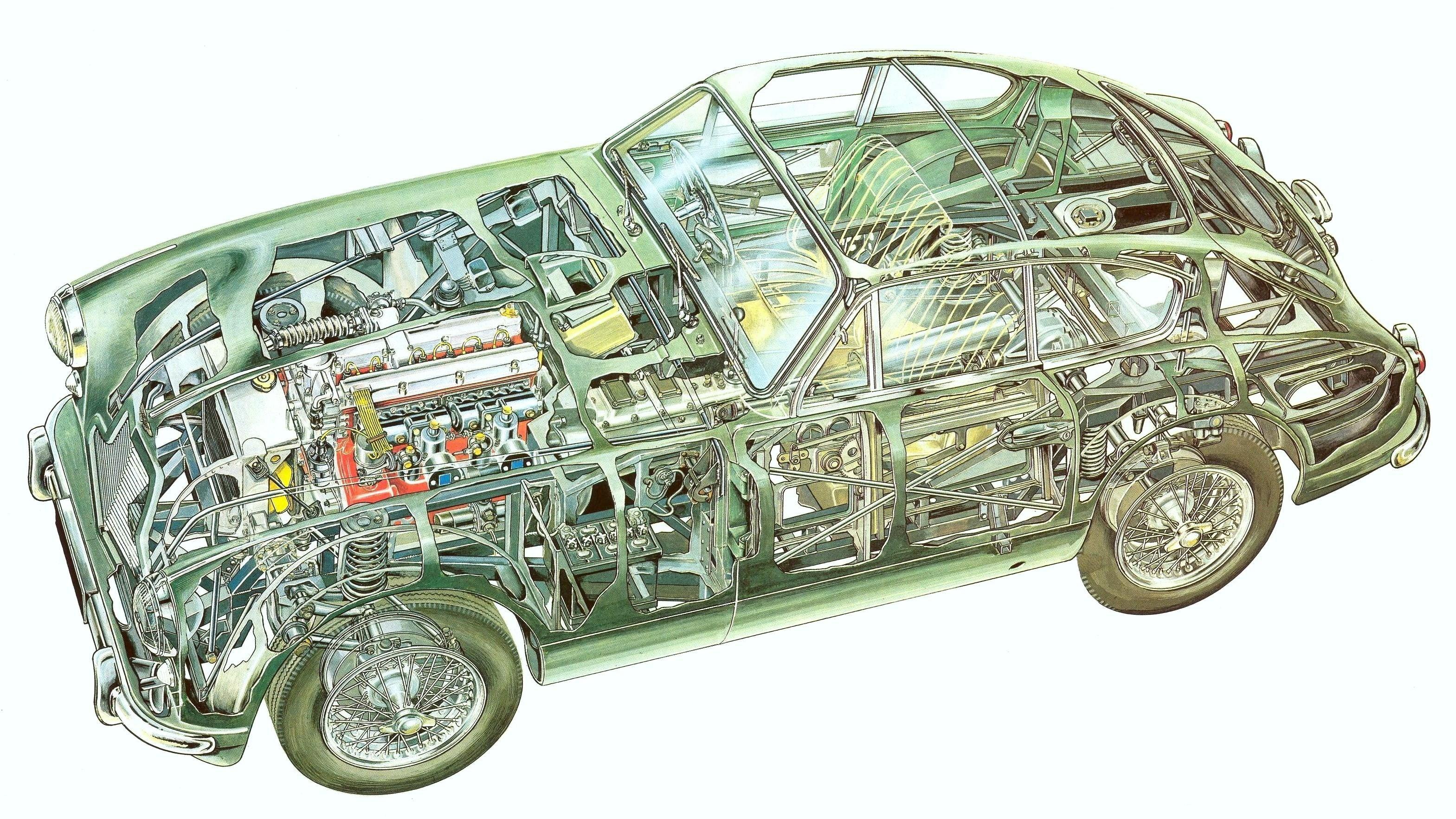 Aston Martin DB2 Cutaway