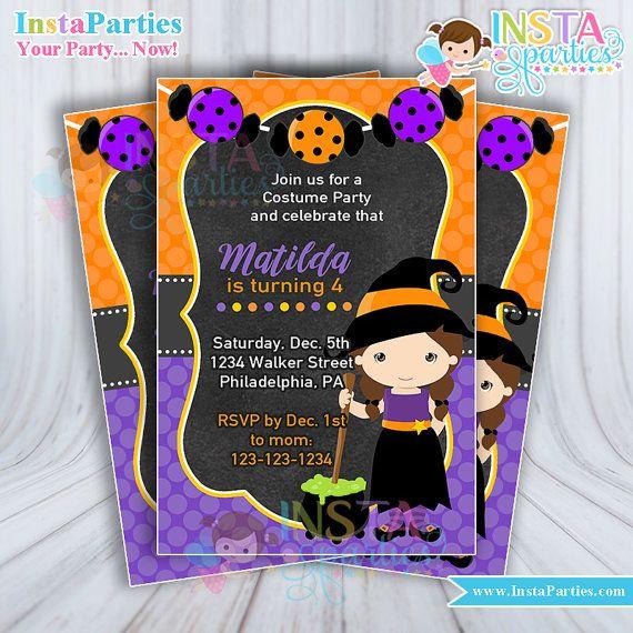 Halloween Witch Invitations / Witch Invitation Halloween