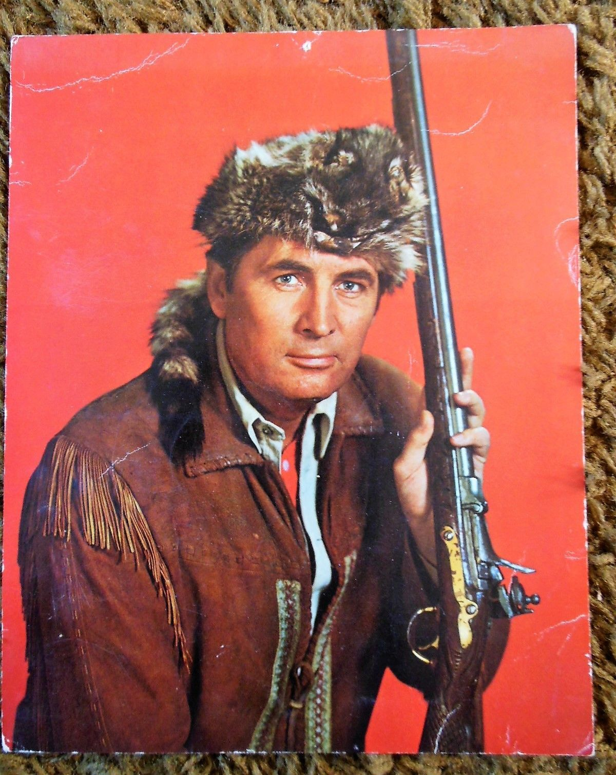 8 X 10 Signed autograph Photo photograph Fess Parker Davy Crockett ...