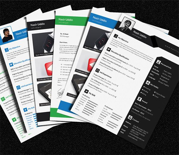 20 Free Editable CV/Resume Templates for PS & AI | Documents and ...