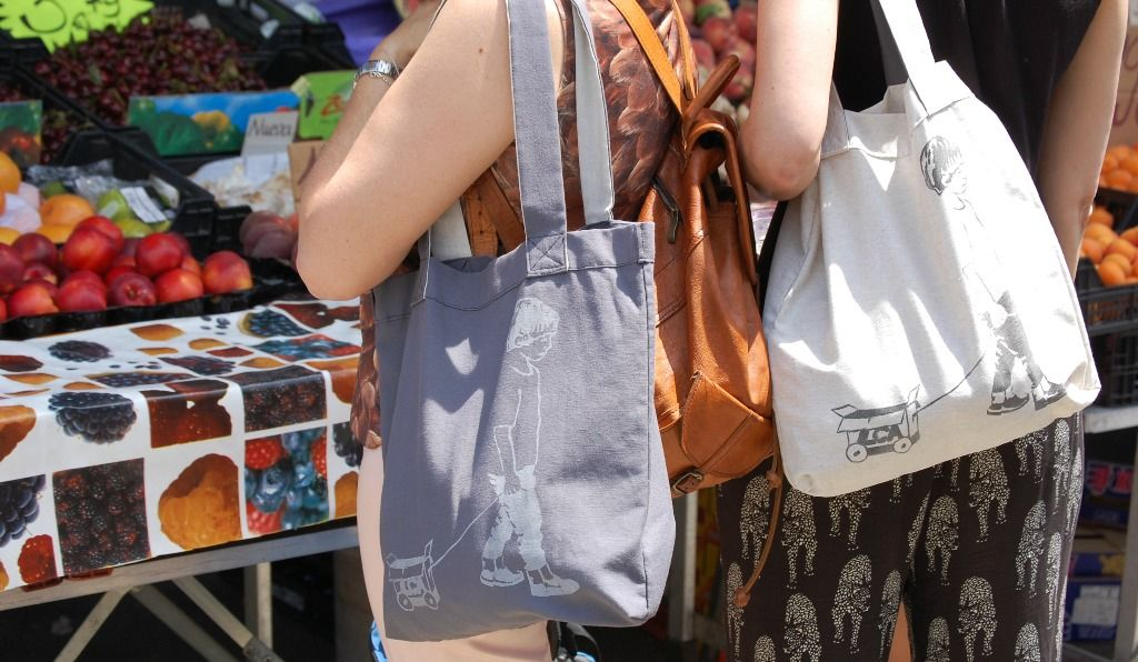 Summer Market Day In Hospitalet De L Infant With Our Totebags