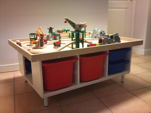 Trofast play table organizaci n del hogar muebles for Muebles lego
