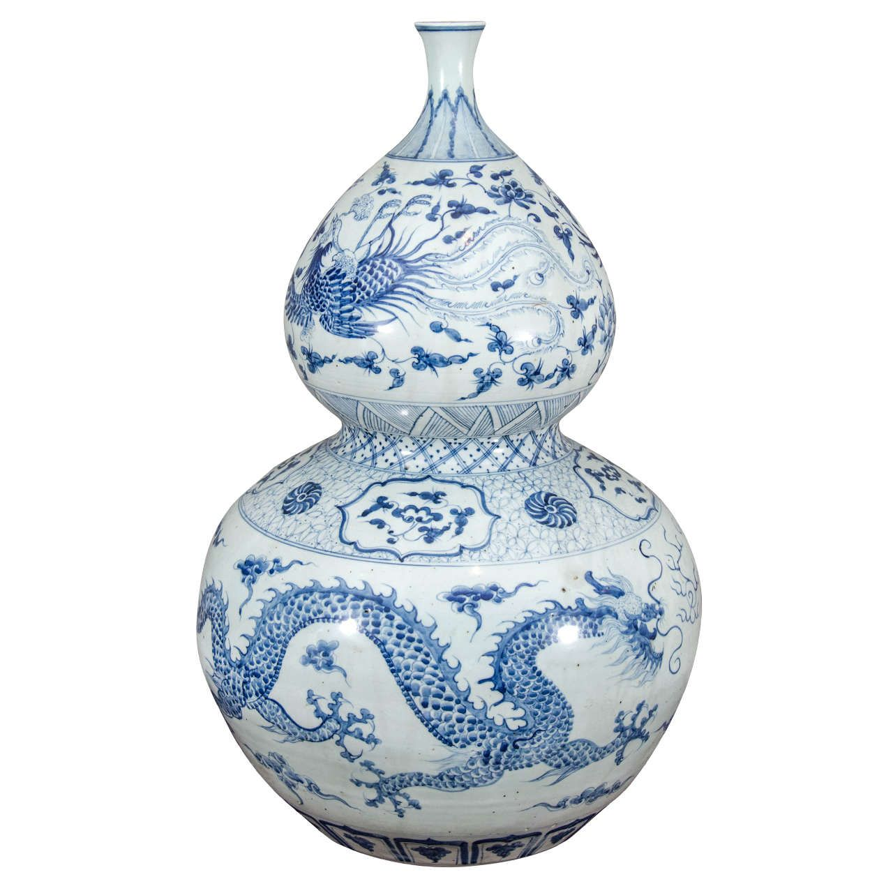 Large chinese blue and white porcelain double gourd calabash vase large blue and white double gourd vase from a unique collection of antique and modern reviewsmspy