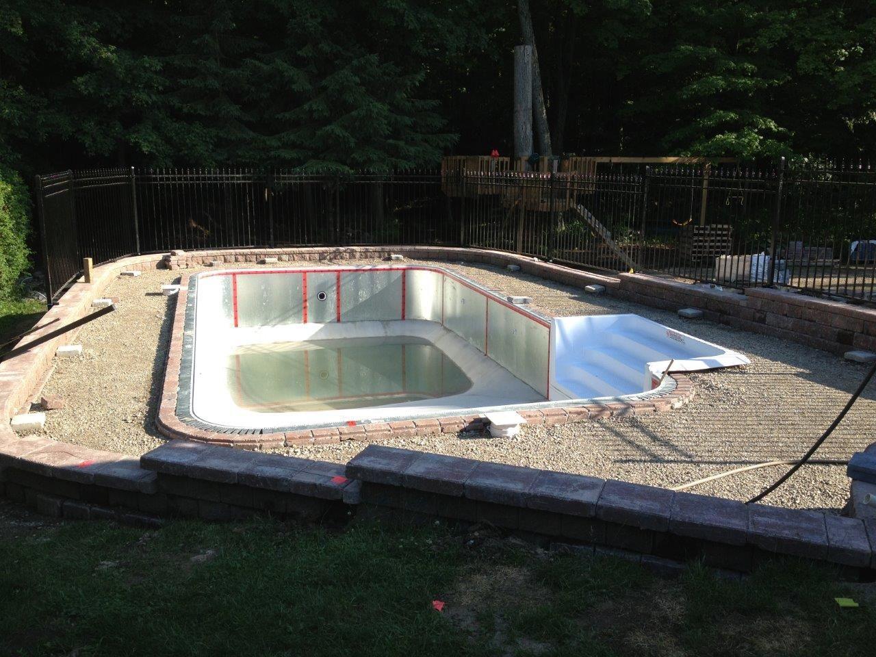 Lovely Inground Swimming Pool Final Inground Pool Diy, Build Your Own Pool, Pool  Kits,