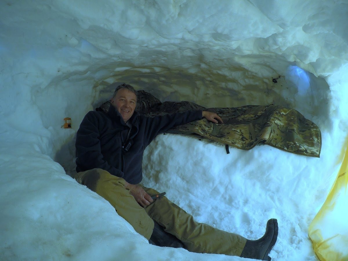 how to make a snow cave