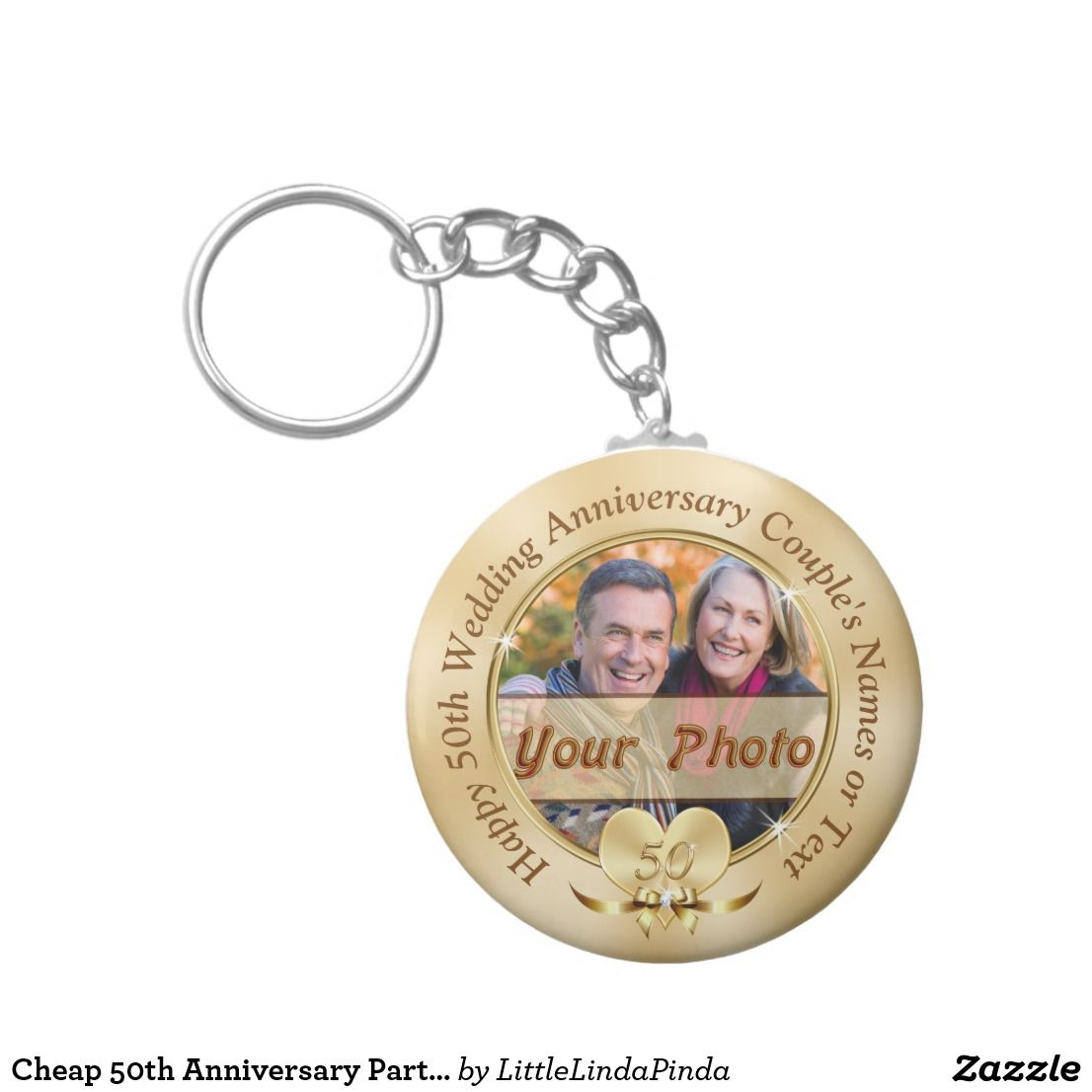 Dresses for 50th wedding anniversary party  Cheap th Anniversary Party Favors PHOTO and TEXT Keychain