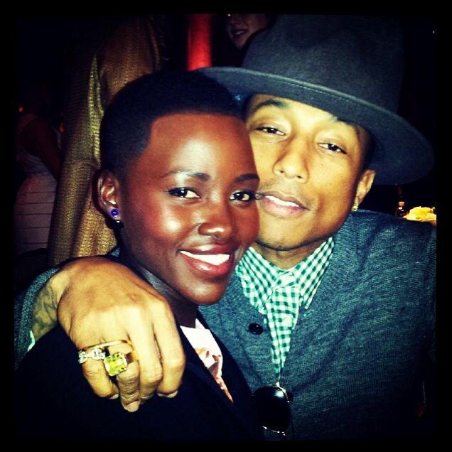 Lupita and Pharrell touch the world. Lupita, first one a winner. Pharrell,touch the world with happy. Lupita & Pharrell we love you.