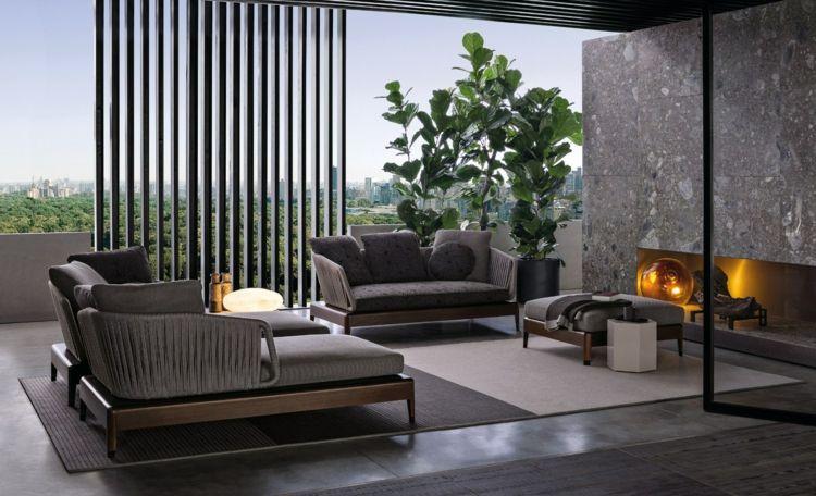 Luxus Garten Loungemöbel Indiana Kollektion Von Minotti
