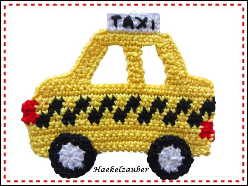 TAXI von KUNTERBUNTE KINDERWELT auf DaWanda.com #crochetapplicates