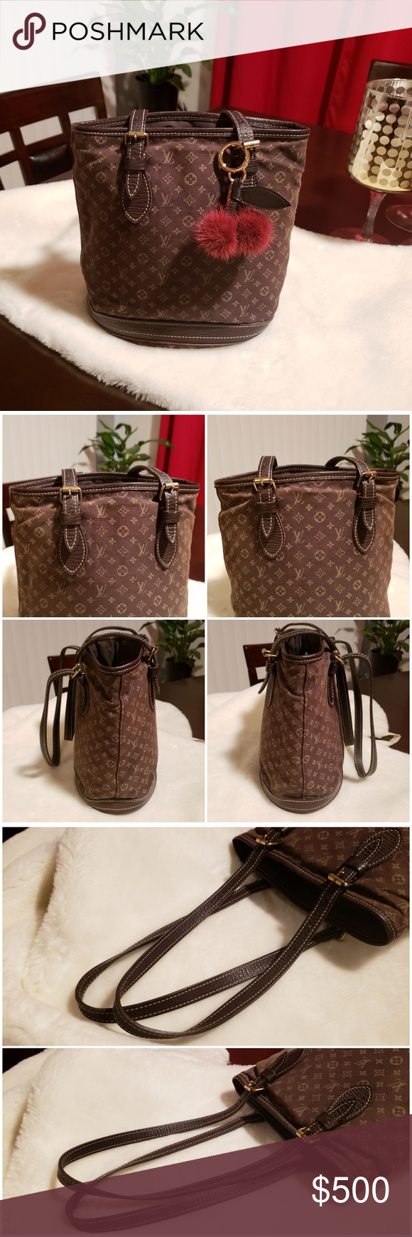 1989c25088f Louis Vuitton Mini Lin PM Bucket Bag Beautiful and authentic Louis Vuitton  PM Bucket Bag 😍