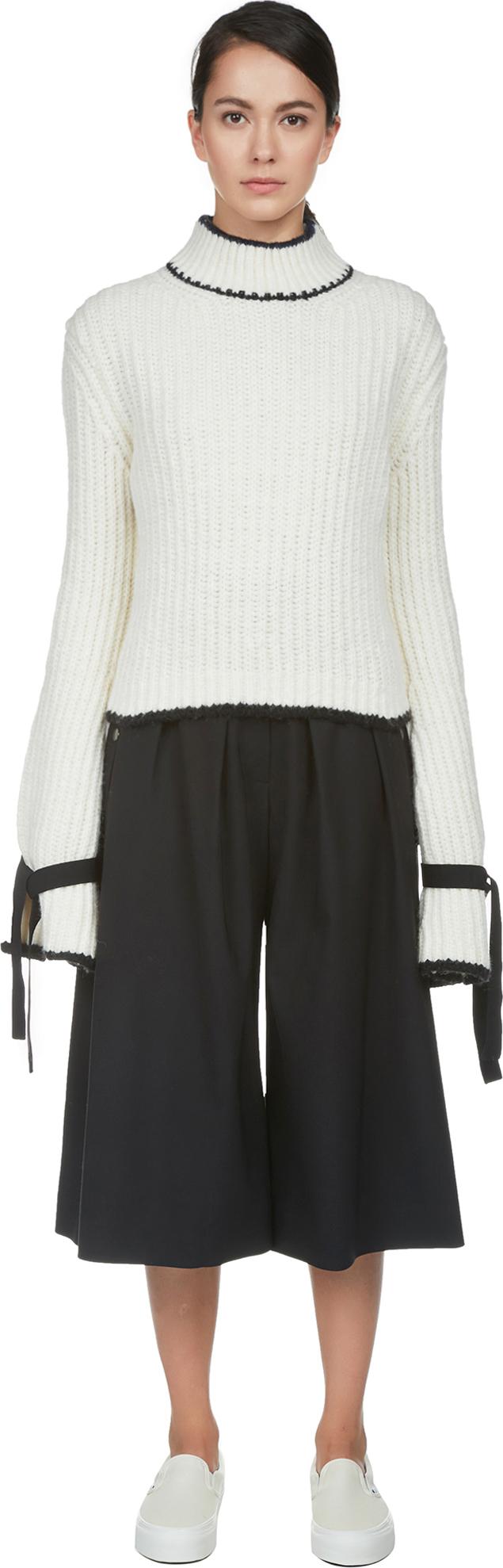Mockneck Sweater w/ Tie Sleeves | J.W.Anderson | LOIT