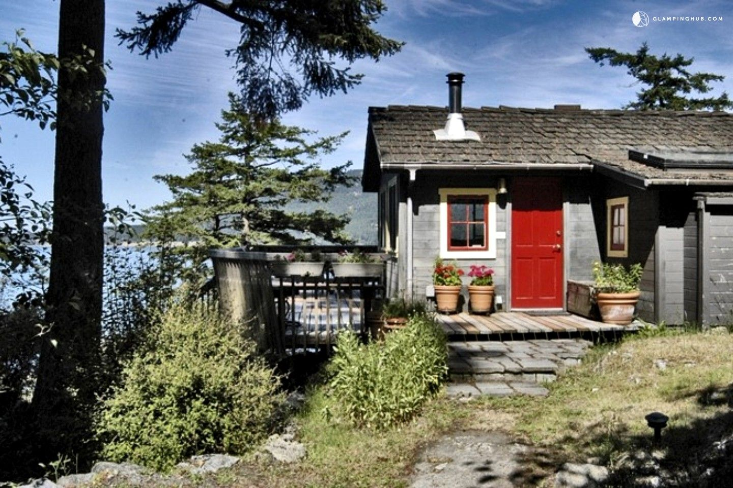Handcrafted Camping Cabin with Eastsound Bay Views in San ...