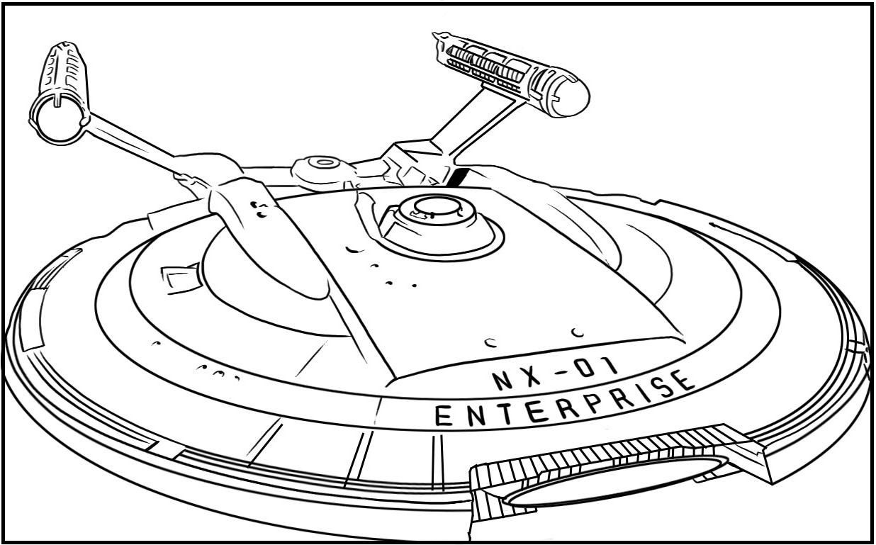 The Uss Starship Enterprise From Star Trek Coloring Pages For Kids Guw Printable Star Trek Color Star Coloring Pages Star Wars Spaceships Star Trek Painting