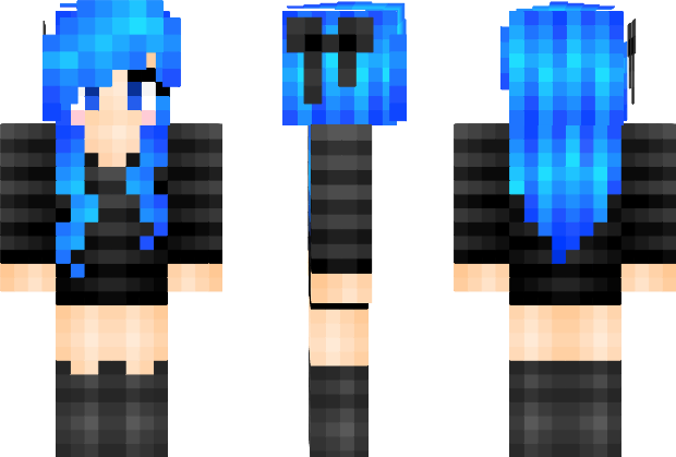 Minecraft Skins Pixeledme Minecraft Electric Blue Hair Minecraft Skin Minecraft My Bff