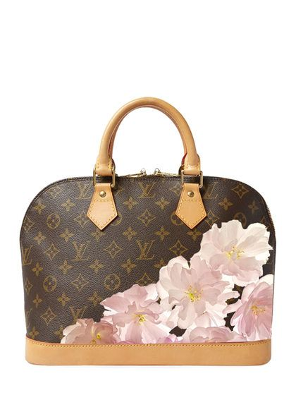 Now this is the LV Bag I want! Hand Painted Customized Monogram Canvas Alma  PM by Louis Vuitton at Gilt 43c752cd799