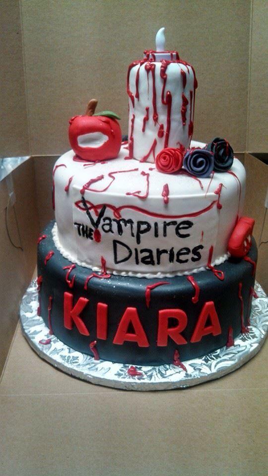 Vampire Diaries Cake Izzys Party Pinterest Cake Birthdays