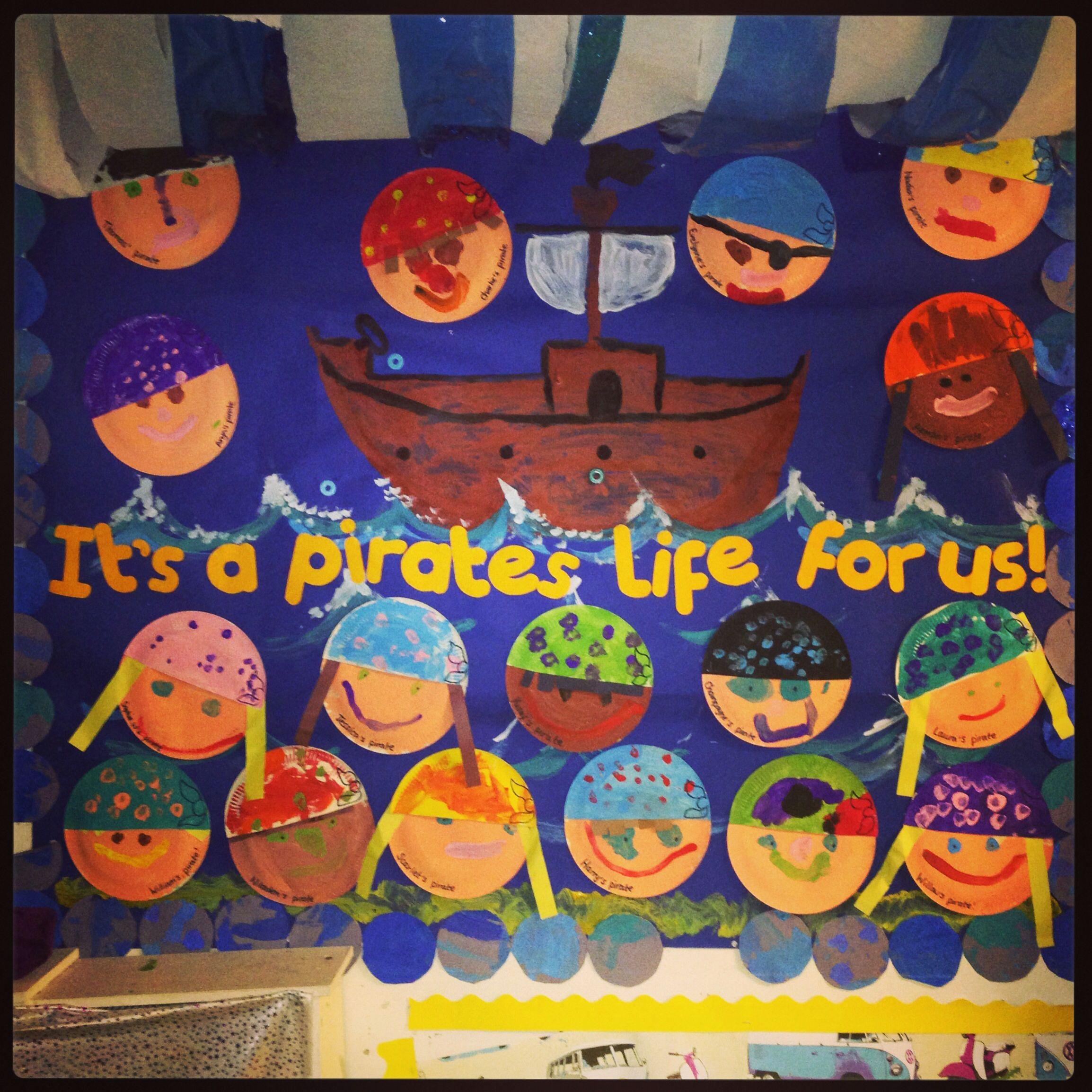 Pirate Classroom Display Preschool Nursery Work