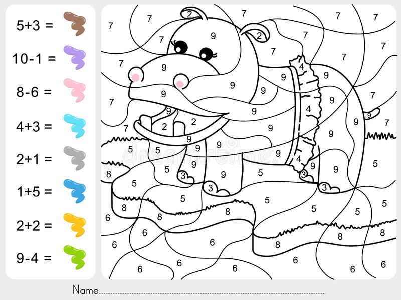 Paint Color By Numbers Addition And Subtraction Worksheet For Education Stoc Addition And Subtraction Worksheets Kindergarten Coloring Pages Color Worksheets
