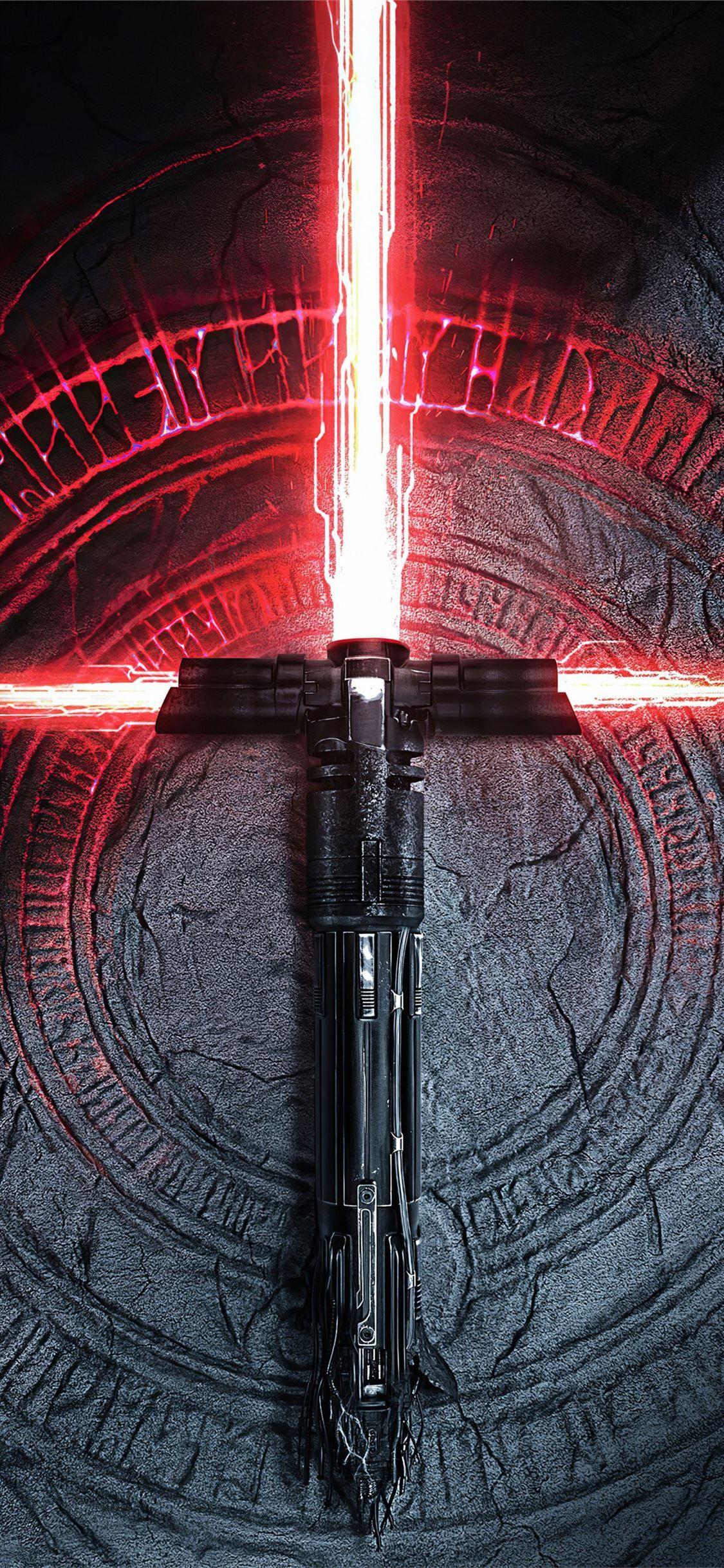 Kylo Ren Lightsaber Starwarstheriseofskywalker Rey Movies 2019movies Starwars 4k I In 2020 Star Wars Wallpaper Iphone Star Wars Light Saber Star Wars Background