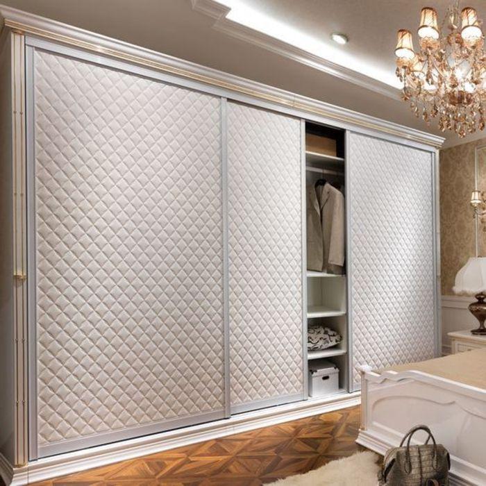 schiebetürenschrank klassisches design moderne LED beleuchtung - schiebetür für badezimmer