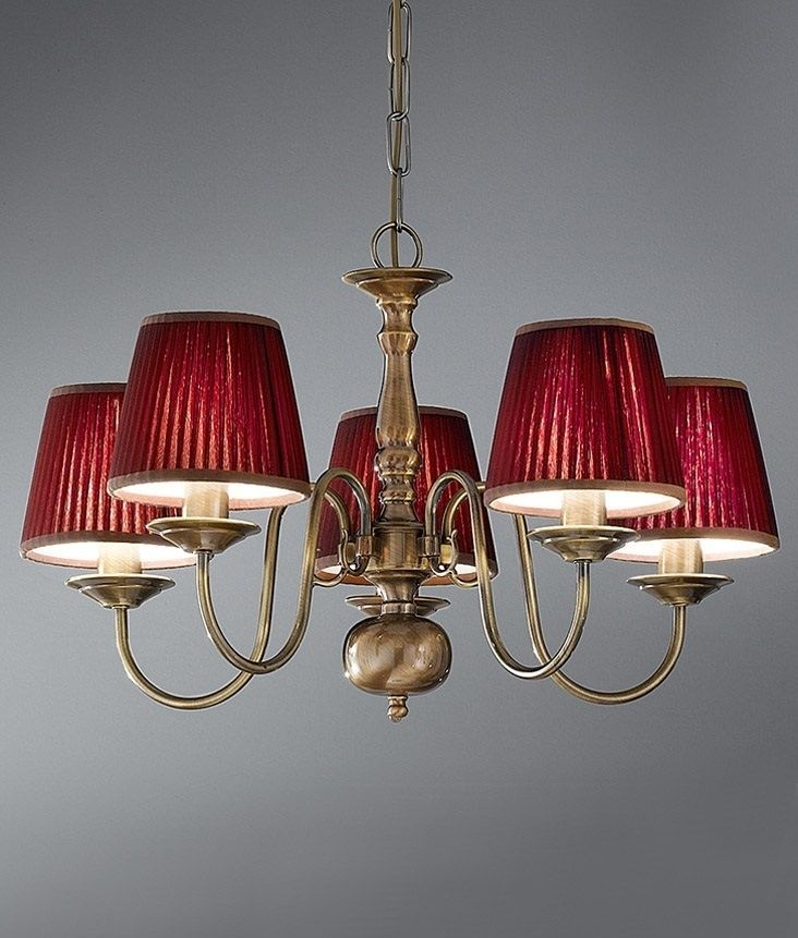 Bronzed Brass Flemish Chandelier - Two Sizes | Candle ...