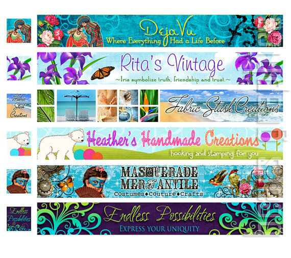 Custom Etsy Banner and Avatar Design by BearsGraphicDesign on Etsy, $18.00