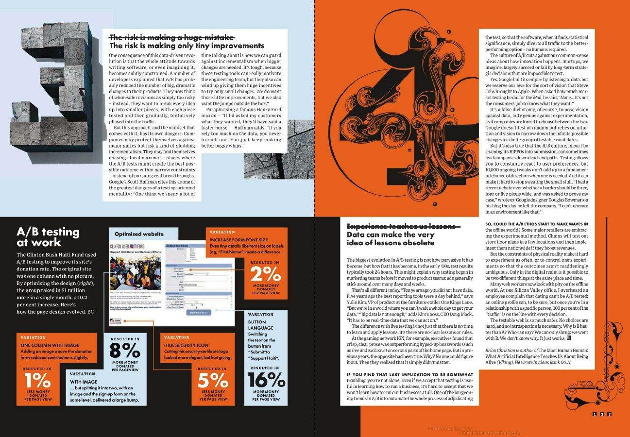 Wired Magazine: A/B Testing Story | Page Layout Class | Pinterest ...