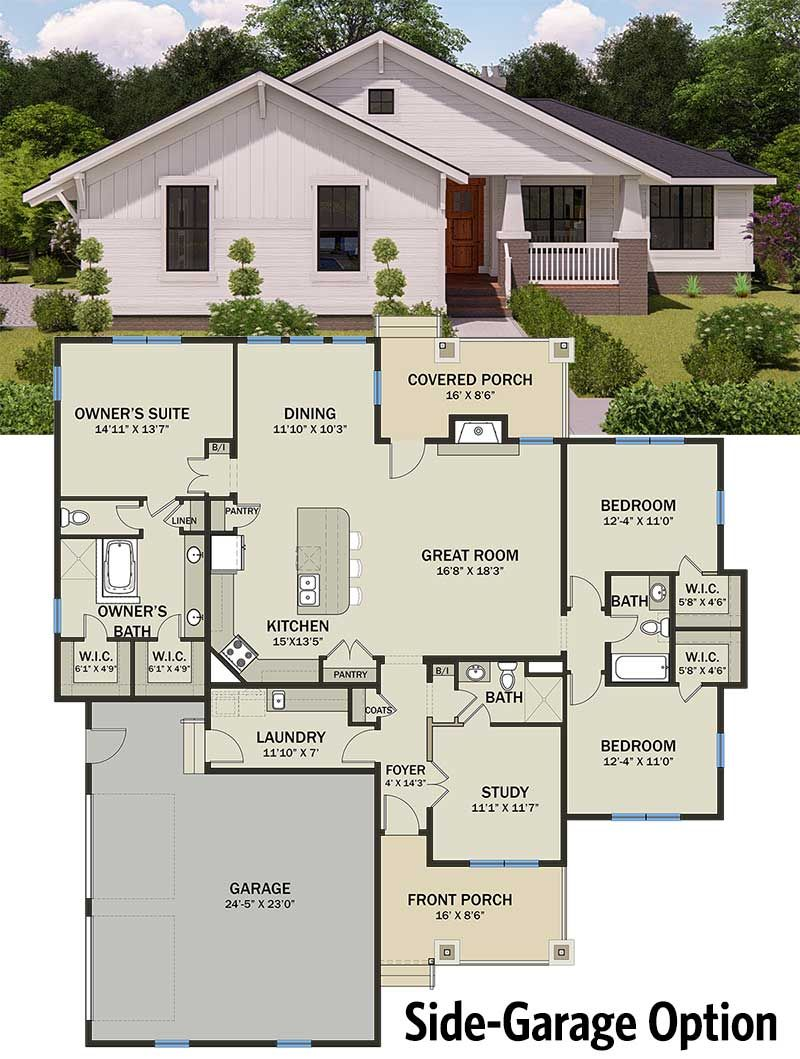 Plan 25402tf Modern Prairie Pleaser New House Plans Architecture House Architectural Design House Plans