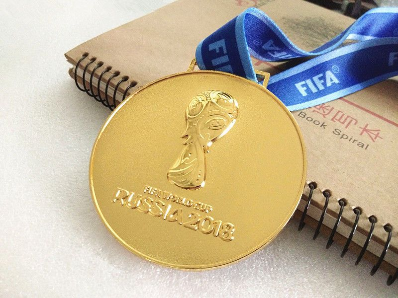 2018 Russia Fifa World Cup Gold Medal With Commemorative Ribbon Collection Ca Ebay