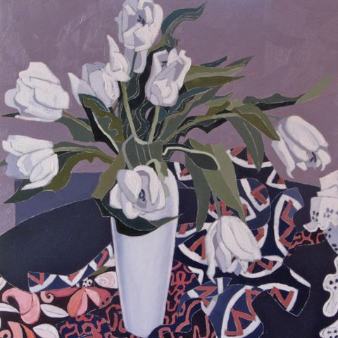 Jennifer Irvine - Still Life with White Tulips